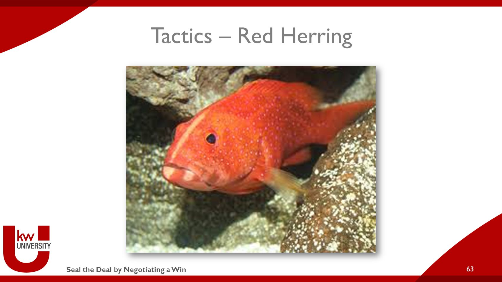 Seal the Deal by Negotiating a Win Tactics – Red Herring 63