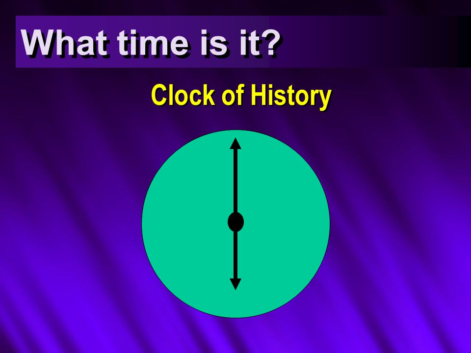 What time is it? Clock of History