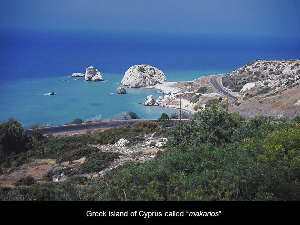 Greek island of Cyprus called makarios