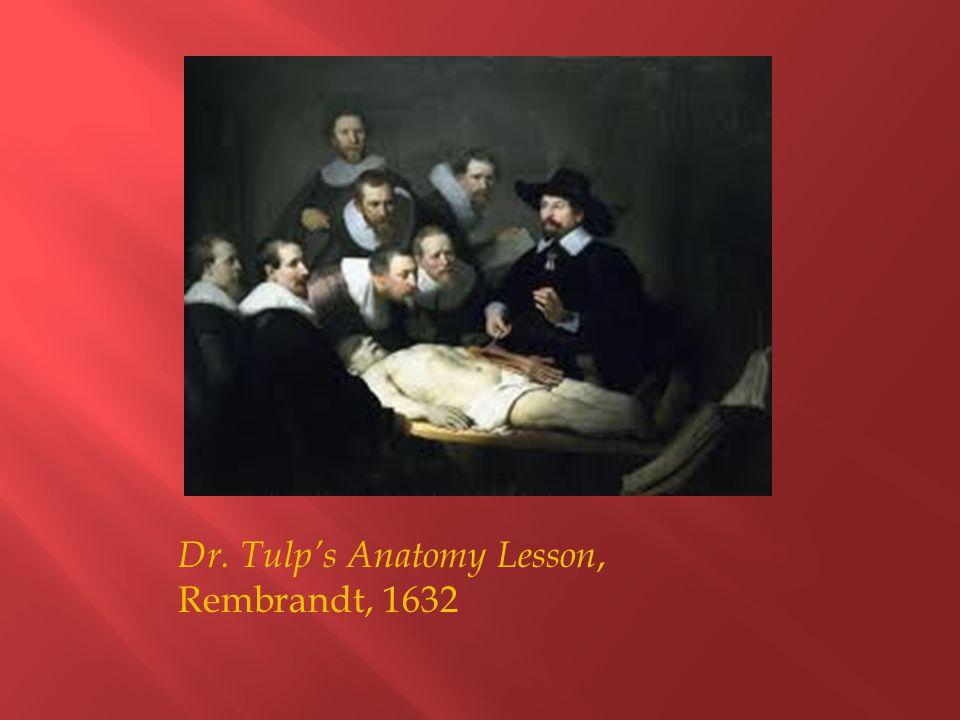 Dr. Tulp's Anatomy Lesson, Rembrandt, 1632