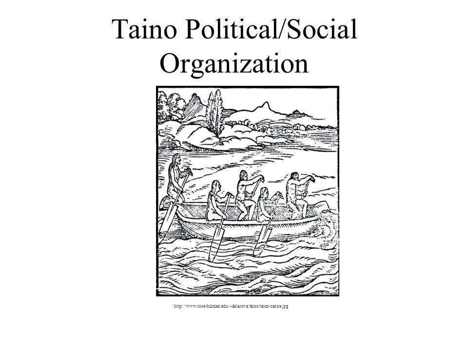 Taino Political/Social Organization http://www.rose-hulman.edu/~delacova/taino/taino-canoe.jpg