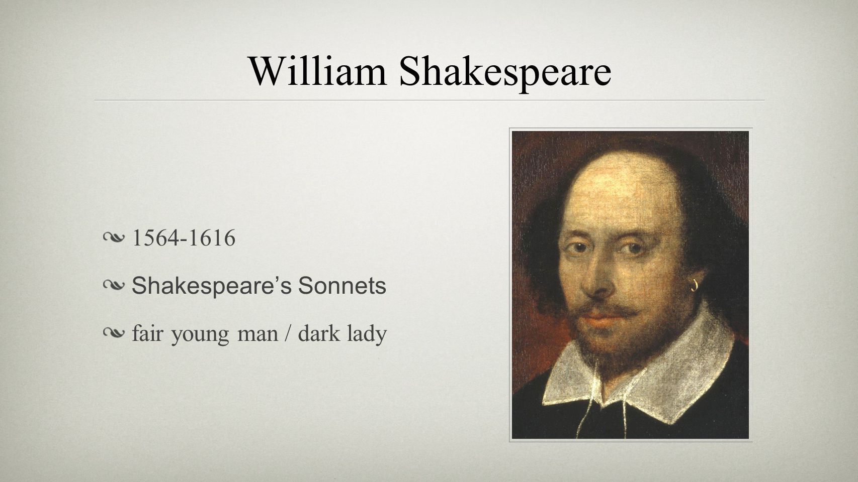 William Shakespeare 1564-1616 Shakespeare's Sonnets fair young man / dark lady
