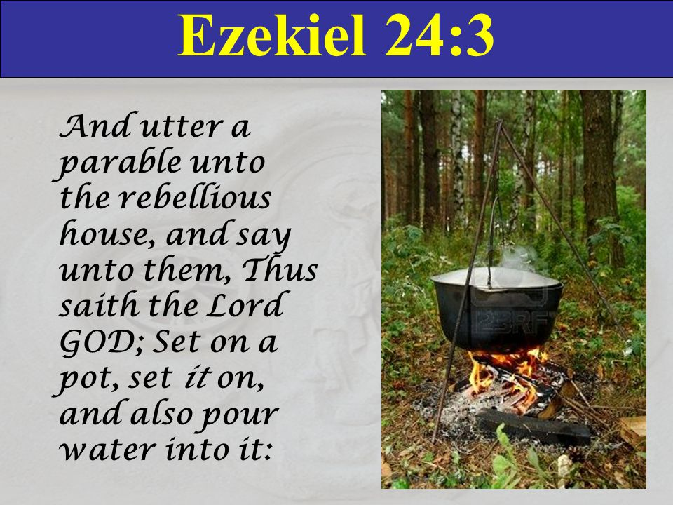 Ezekiel 24:4 Gather the pieces thereof into it, even every good piece, the thigh, and the shoulder; fill it with the choice bones.