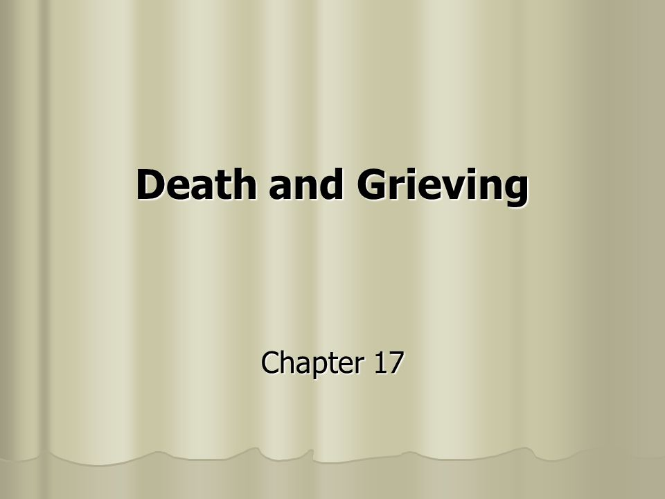Death and Grieving Chapter 17