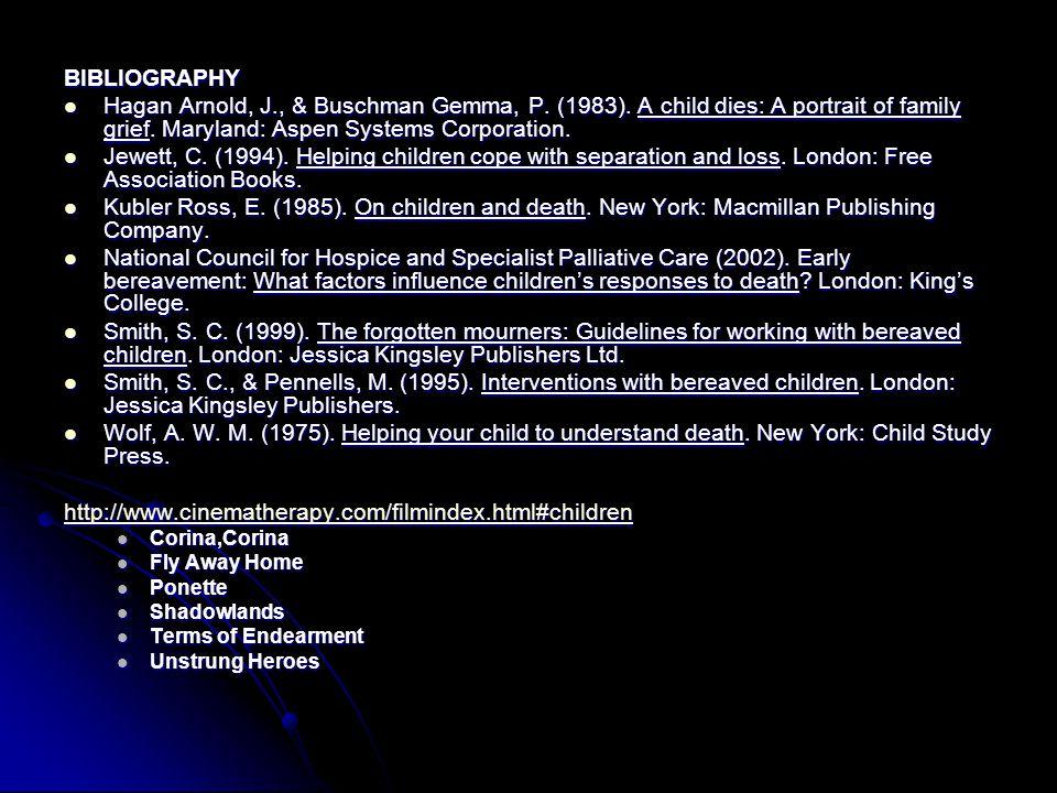 BIBLIOGRAPHY Hagan Arnold, J., & Buschman Gemma, P.