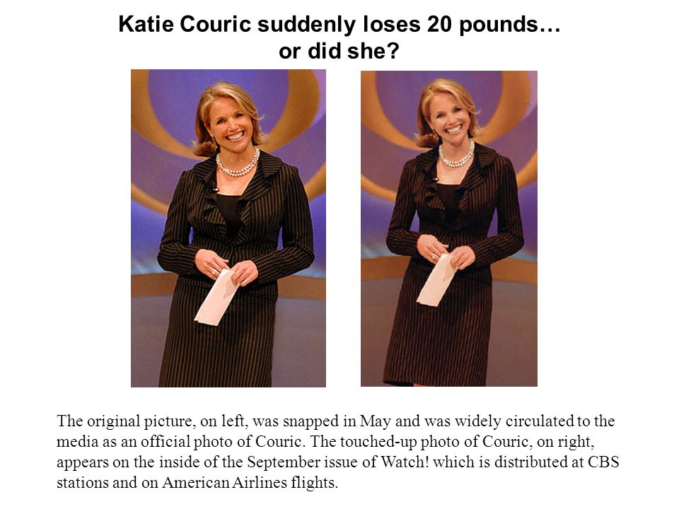 Katie Couric suddenly loses 20 pounds… or did she.