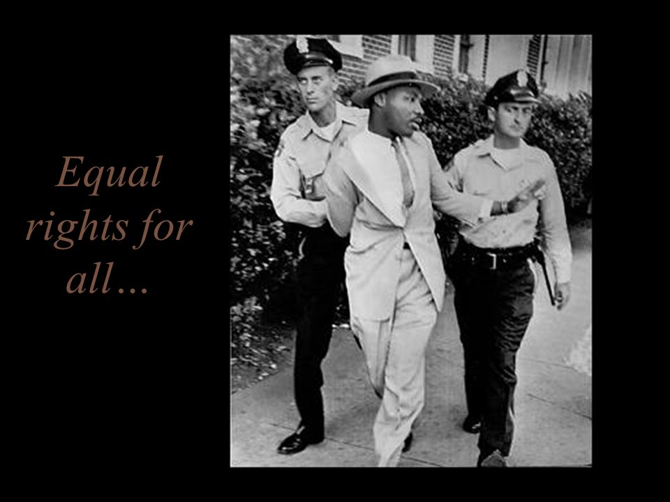 Equal rights for all…