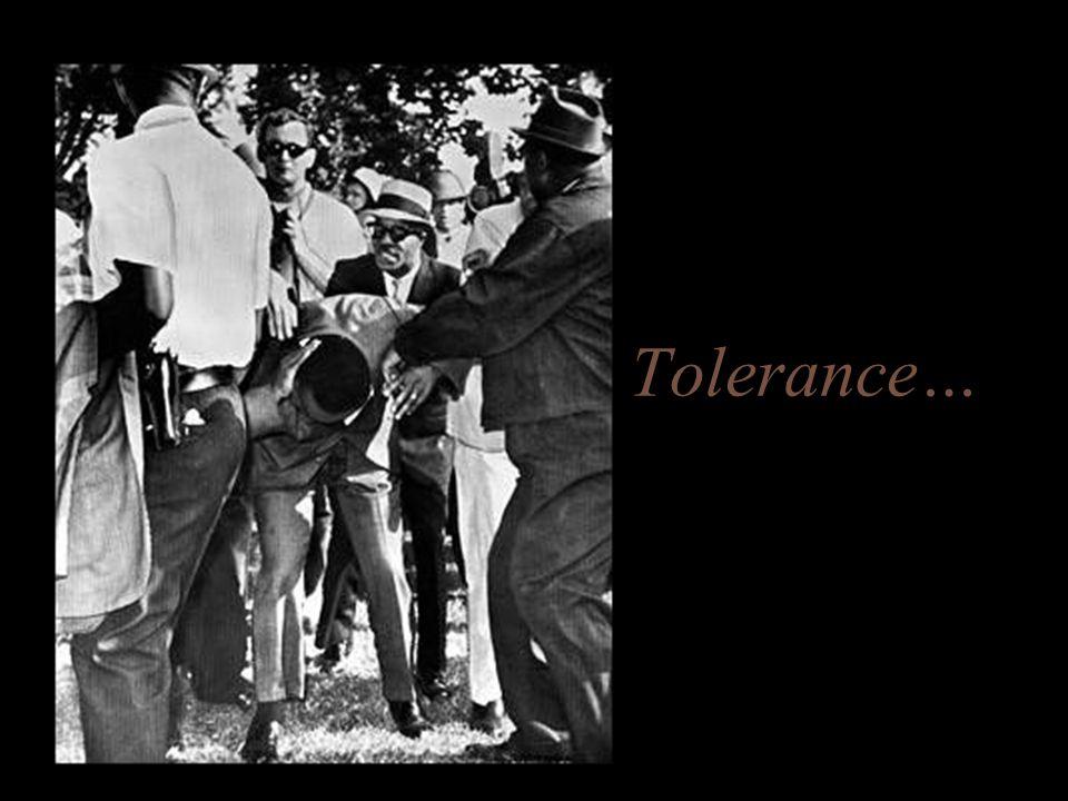 Tolerance…