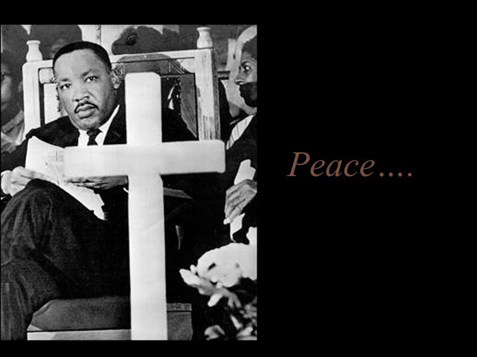 Peace….