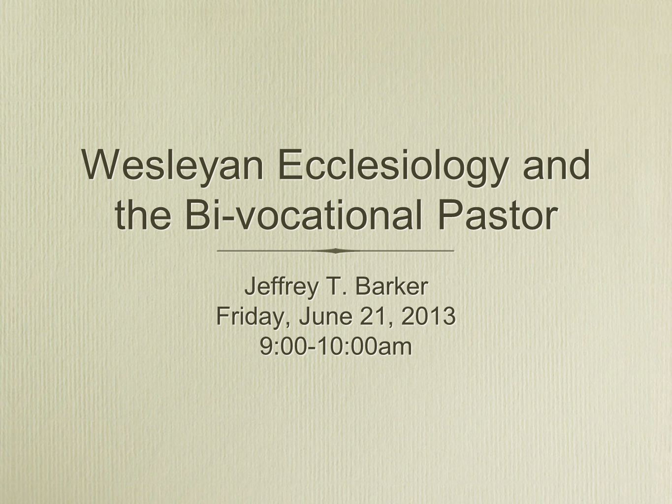 First Steps Both the joy and challenge of bi-vocational ministry must be shared throughout the denominational structure.