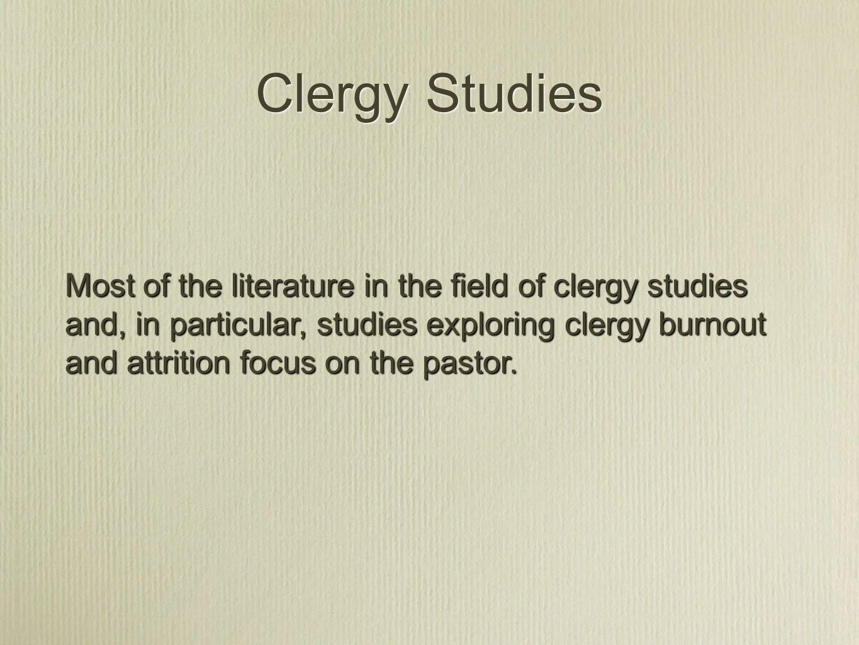 Clergy Studies Pastor