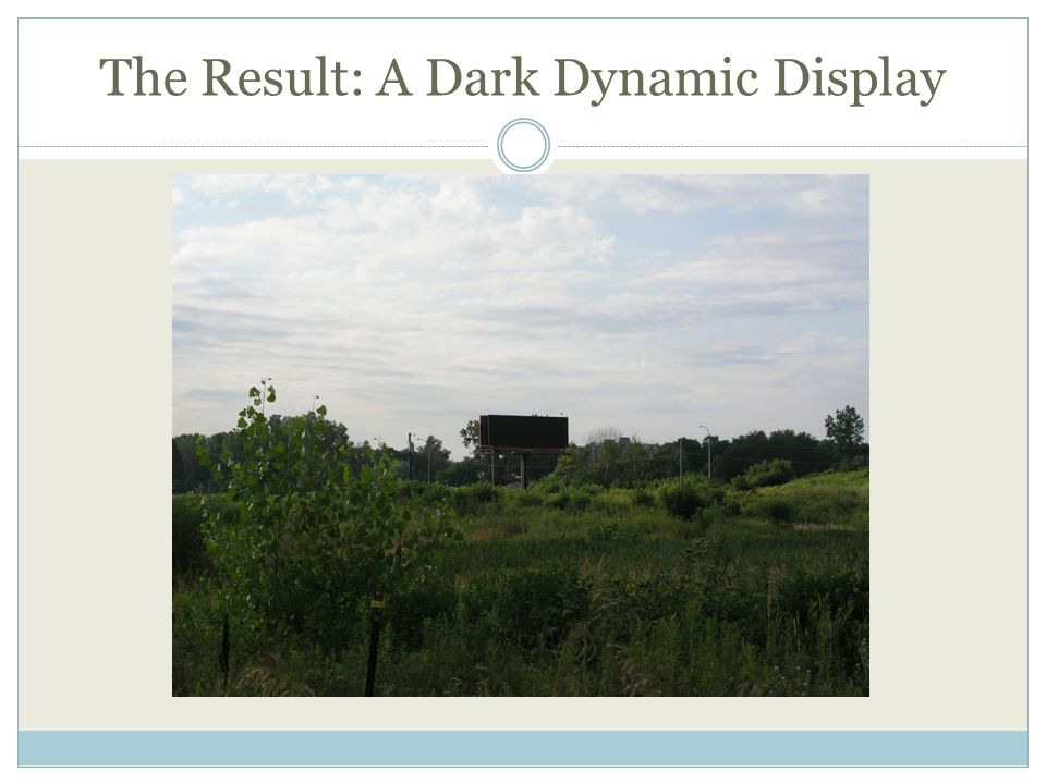 The Result: A Dark Dynamic Display
