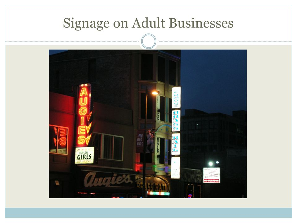 Signage on Adult Businesses