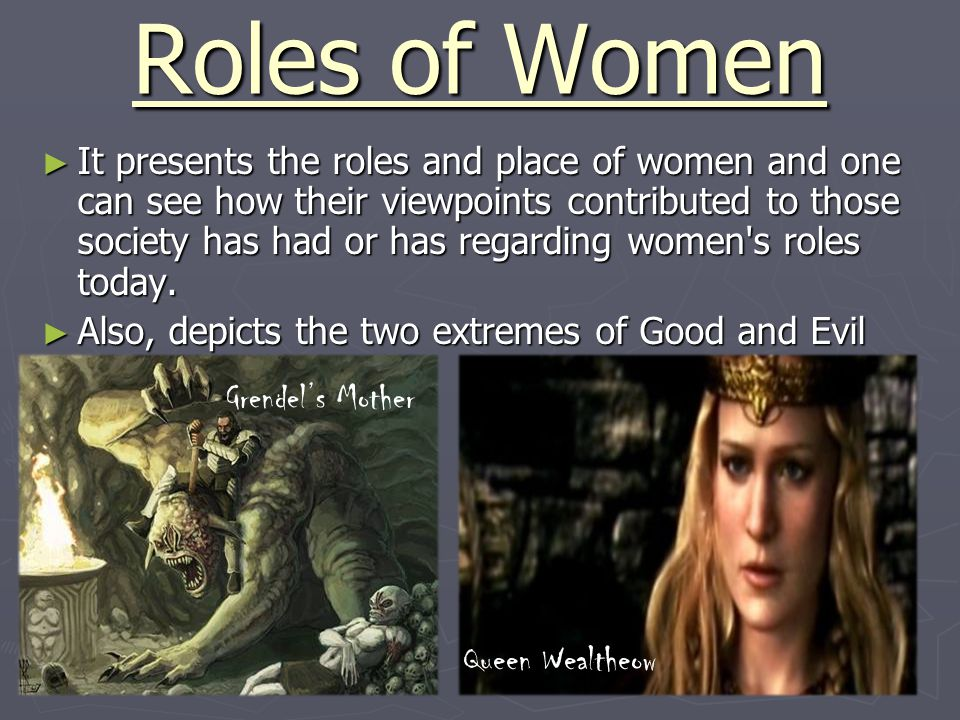 Roles of Women ► It presents the roles and place of women and one can see how their viewpoints contributed to those society has had or has regarding w