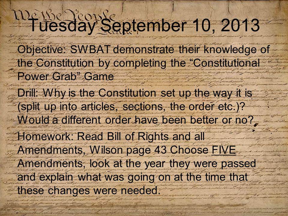 Constitution Power Grab