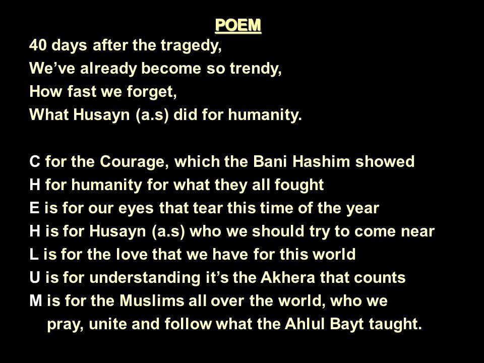 A poem for Bibi Sakina.Sakina, Sakina, I cry for you.