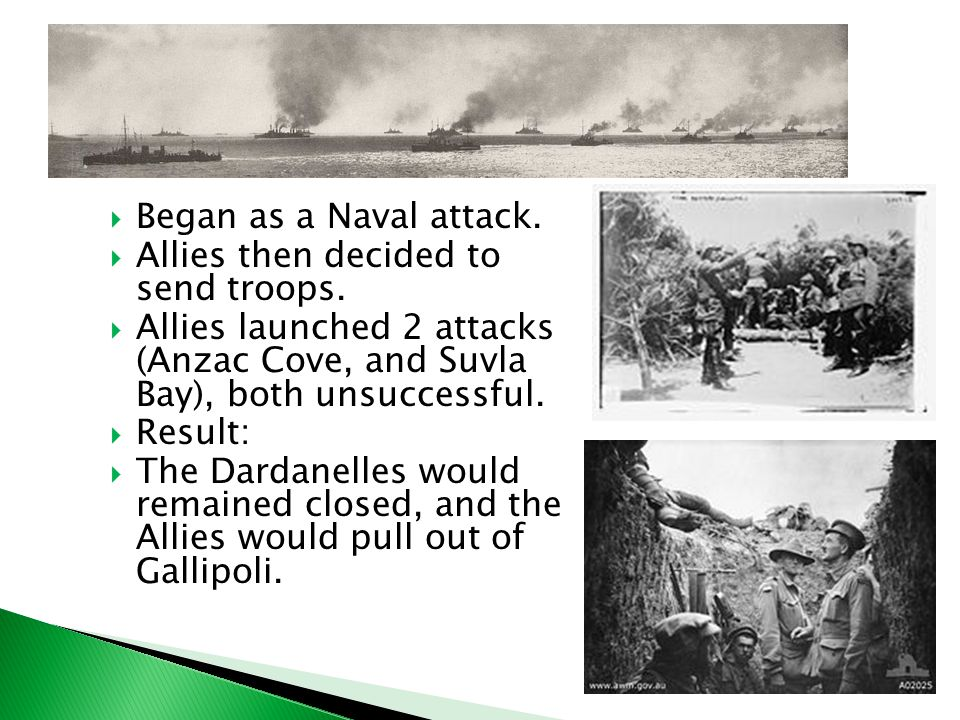  Began as a Naval attack.  Allies then decided to send troops.