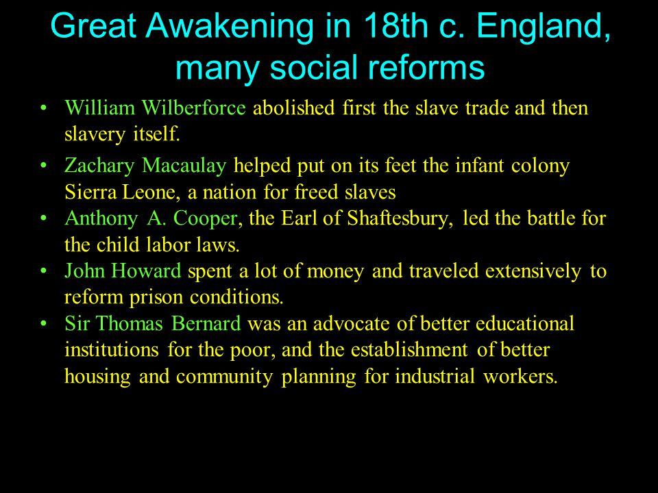 Great Awakening in 18th c.