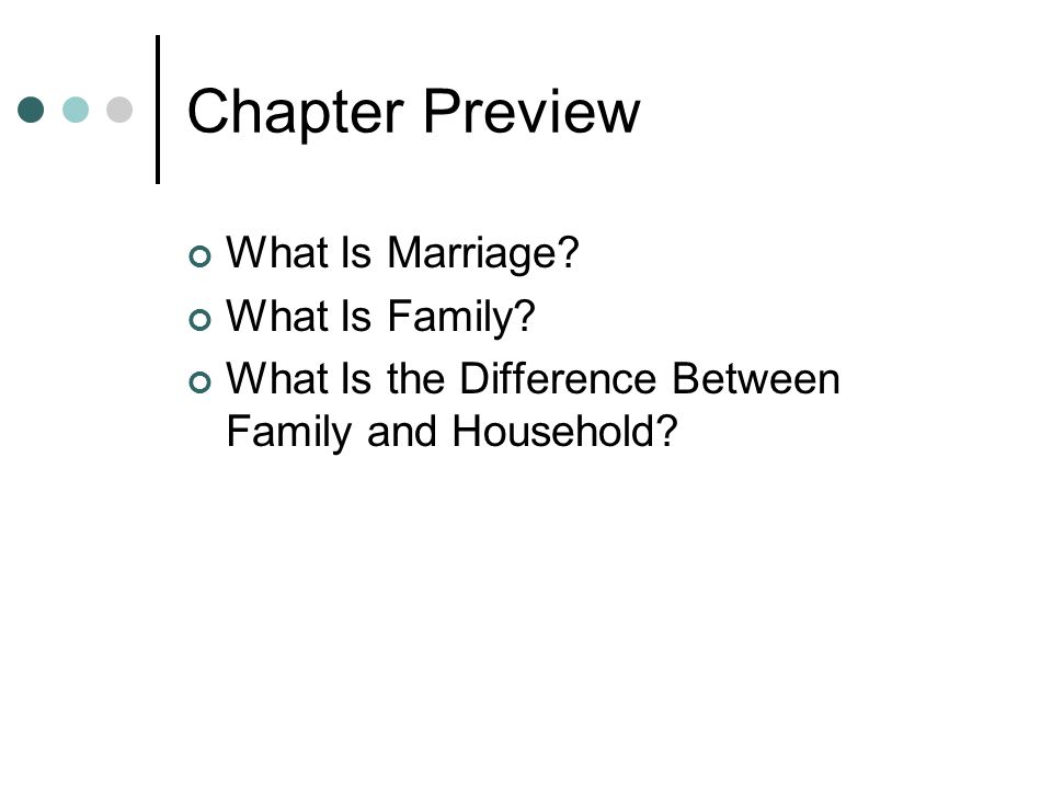 Chapter Preview What Is Marriage.What Is Family.