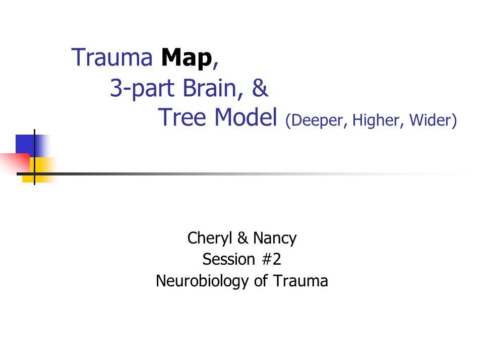 Trauma Map, 3-part Brain, & Tree Model (Deeper, Higher, Wider) Cheryl & Nancy Session #2 Neurobiology of Trauma
