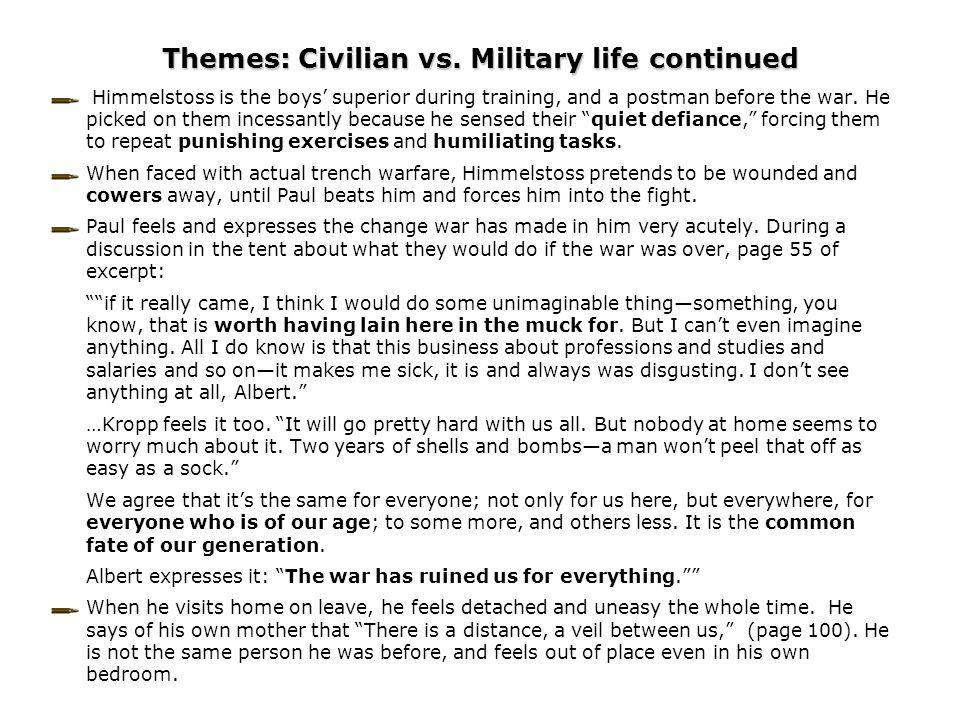Themes: Civilian vs.