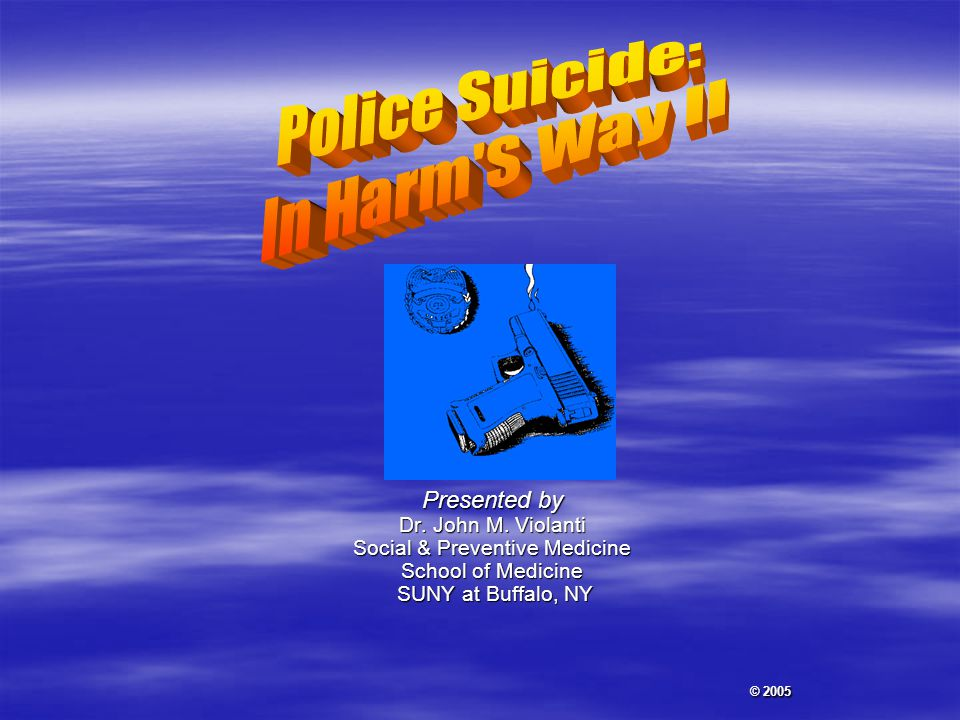 Often Worse Than a Line of Duty Death Dennis Conroy, PhD  Lack of specific focus for anger  Confusion caused by lack of protocol  Suicide fragments a department  Individual moral/religious values come into play  Mental health of some employees are effected  Relationship of the deceased with surviving employees.