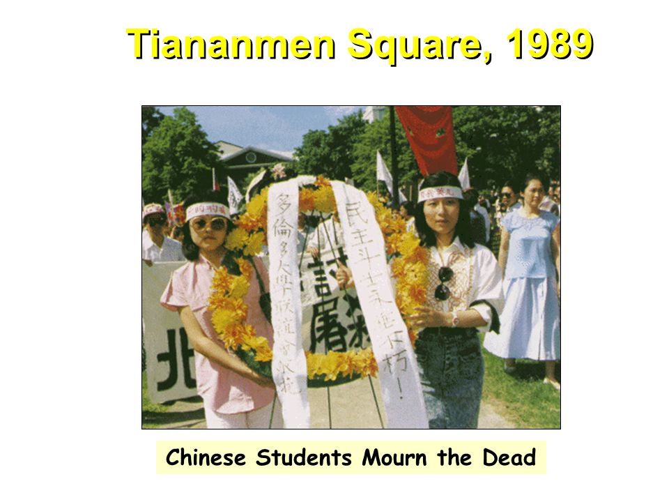 Tiananmen Square, 1989 Chinese Students Mourn the Dead