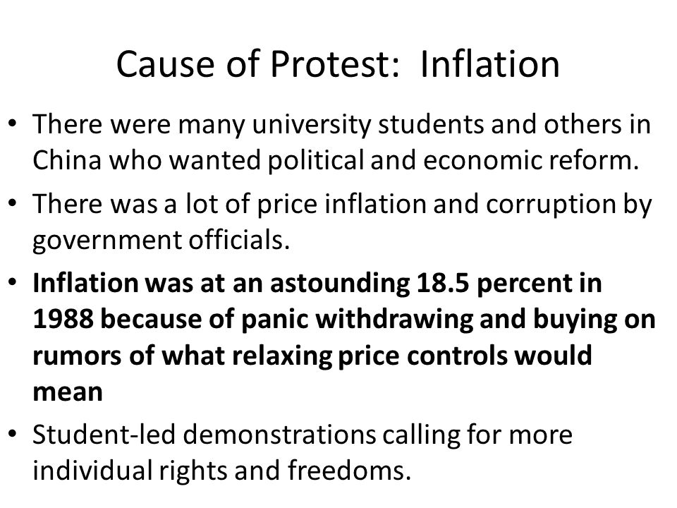 Government's Initial Responses On April 26, The Communist Party newspaper People s Daily accused an extremely small number of people with ulterior purposes of inciting the students to unrest in order to overthrow the Communist government.