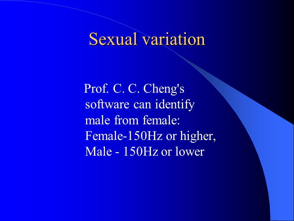 Sexual variation: Pronunciation The female students pronunciation of palatal sounds Syllables with palatal(s)DentalizedFrontedTotal 些 (yǒu yì) xiē (some) 31 17 20 急 jí (in a hurry) 14 12 26 雞 jī (rooster/chicken) 10 12 22 寄 jì (to send) 21 10 21 幾 jǐ (several) 11 7 18 細 xì (slender; fine) 9 12 21 積極 jījí (active) 7 10 17 焦急 jiāojí (worried) 3 13 16 Source: Hu, Mingyang.