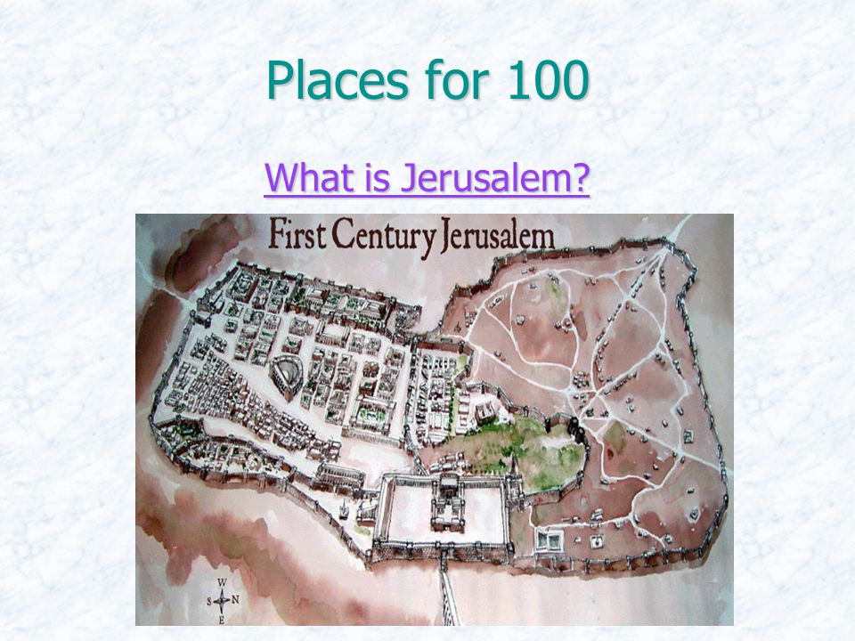Places for 100 What is Jerusalem What is Jerusalem