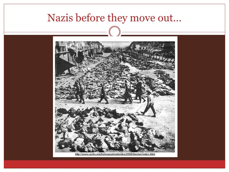 Nazis before they move out…