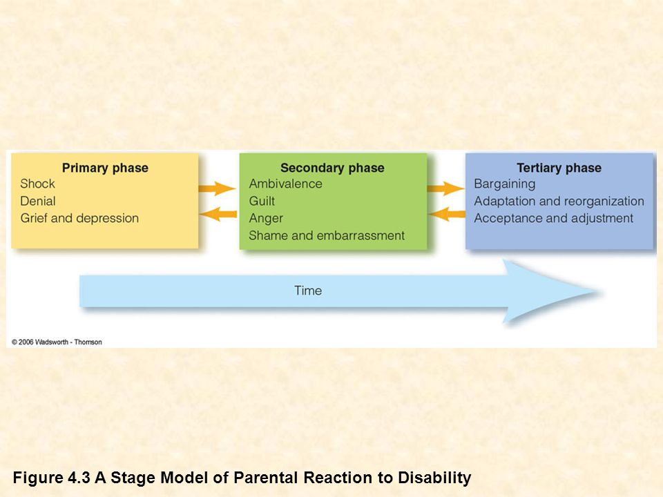 Figure 4.3 A Stage Model of Parental Reaction to Disability