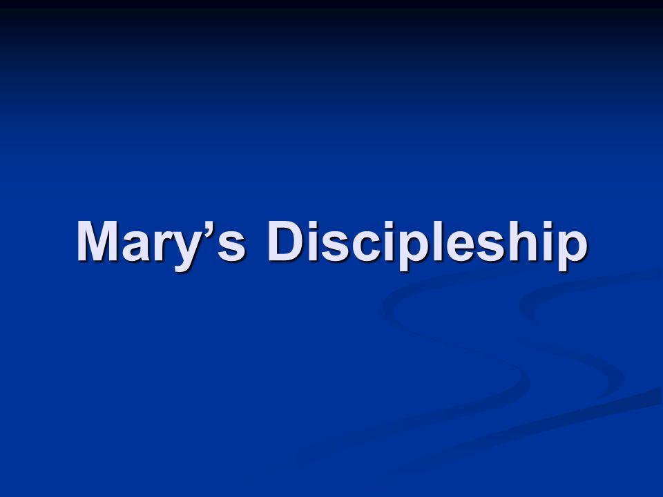 Mary's Discipleship
