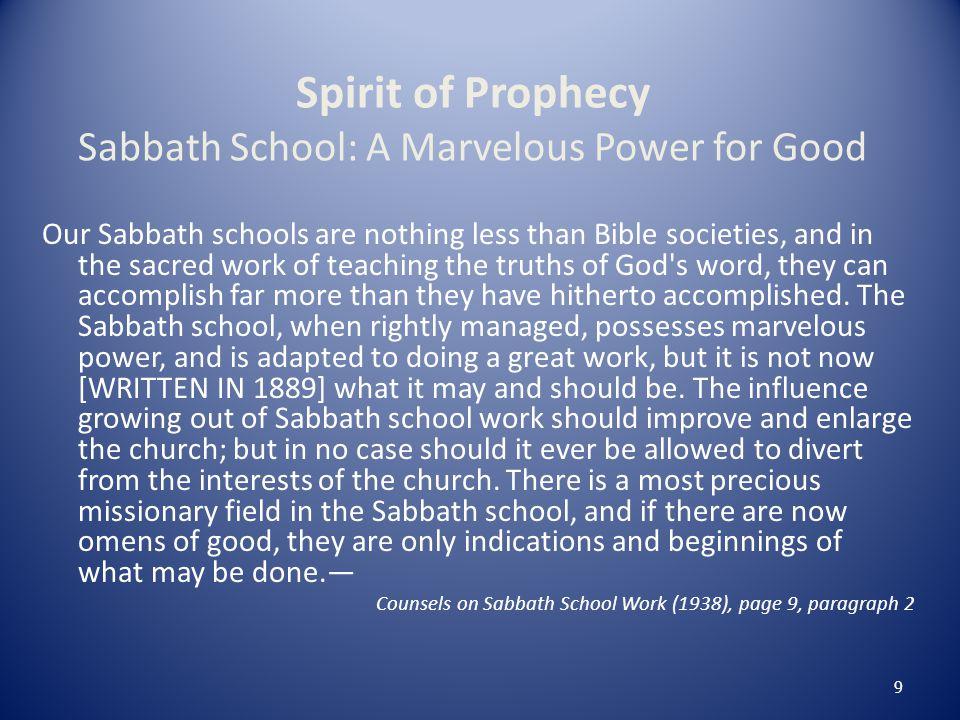 Trust God for Sabbath School Success.