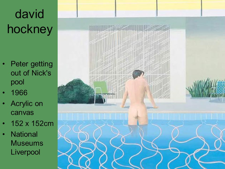 david hockney Peter getting out of Nick s pool 1966 Acrylic on canvas 152 x 152cm National Museums Liverpool