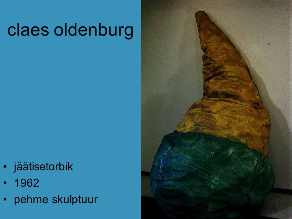 claes oldenburg jäätisetorbik 1962 pehme skulptuur