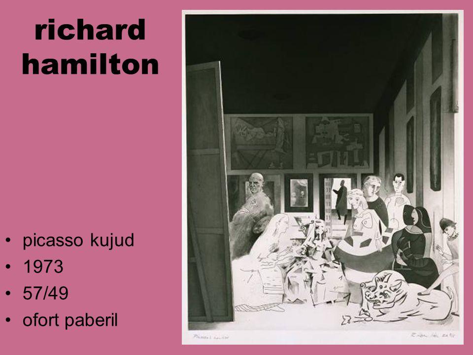 richard hamilton picasso kujud 1973 57/49 ofort paberil