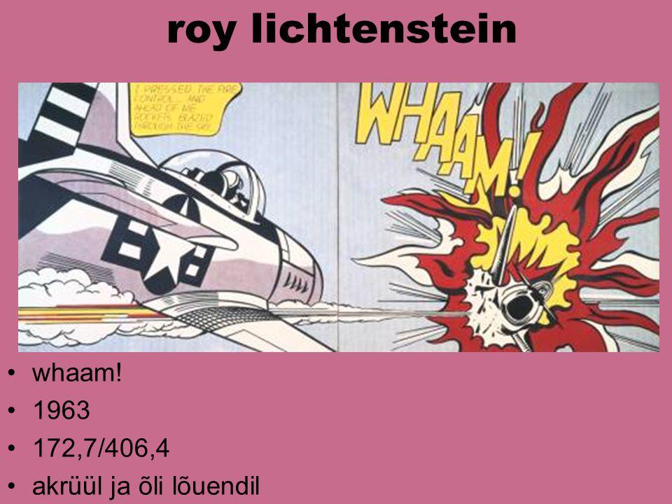 roy lichtenstein whaam! 1963 172,7/406,4 akrüül ja õli lõuendil