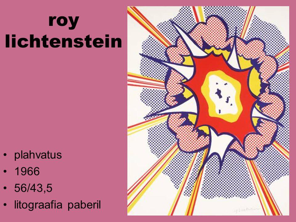 roy lichtenstein plahvatus 1966 56/43,5 litograafia paberil