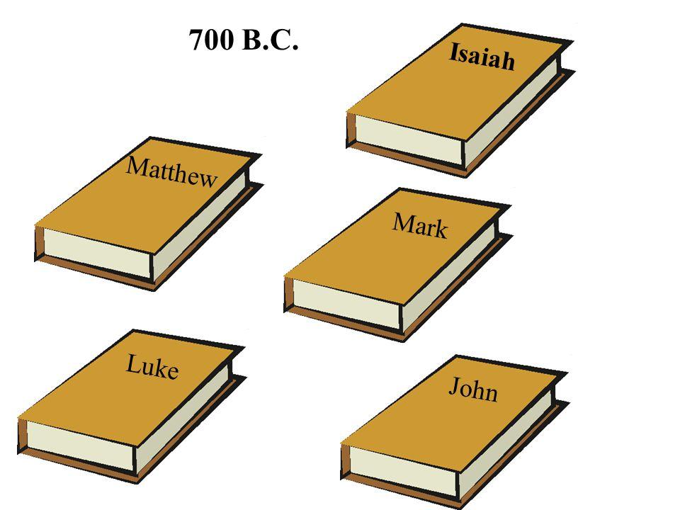 Matthew Luke Mark John Isaiah 700 B.C.