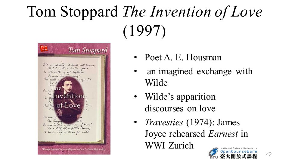 Tom Stoppard The Invention of Love (1997) Poet A. E.