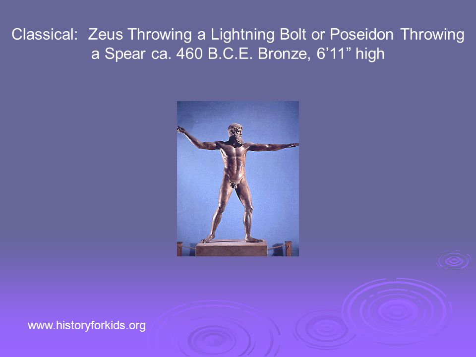 Classical: Zeus Throwing a Lightning Bolt or Poseidon Throwing a Spear ca.