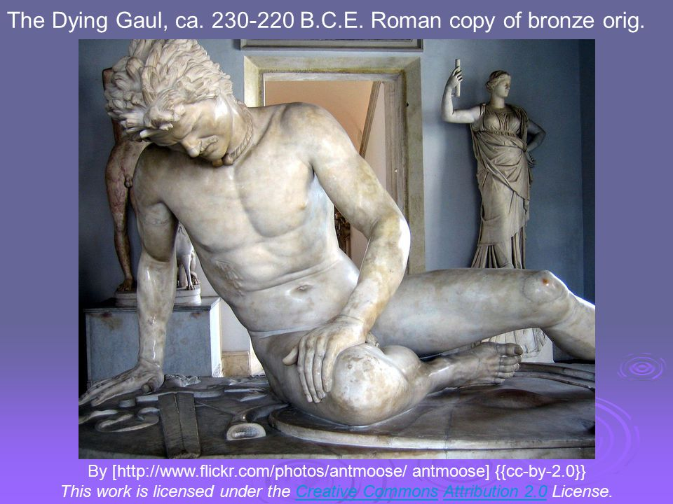 By [http://www.flickr.com/photos/antmoose/ antmoose] {{cc-by-2.0}} This work is licensed under the Creative Commons Attribution 2.0 License.Creative CommonsAttribution 2.0 The Dying Gaul, ca.