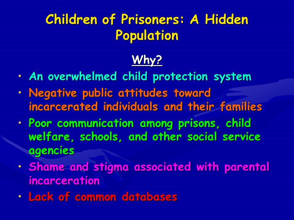 Children of Prisoners: A Hidden Population Why.