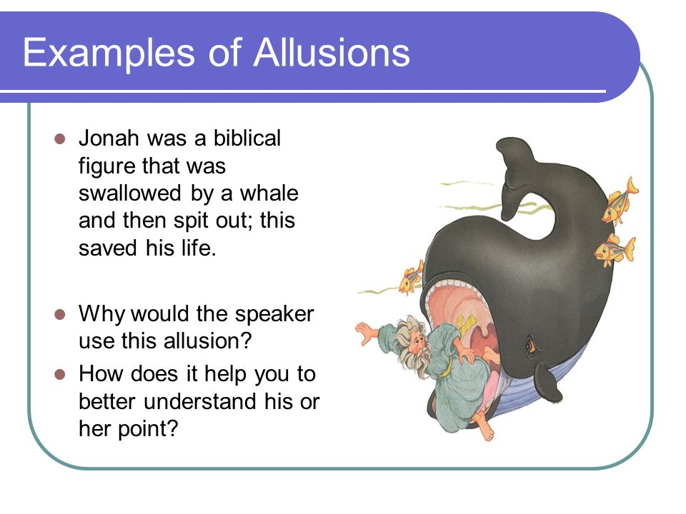 Allusion Allusion A Reference To A Well Known Person Place Event