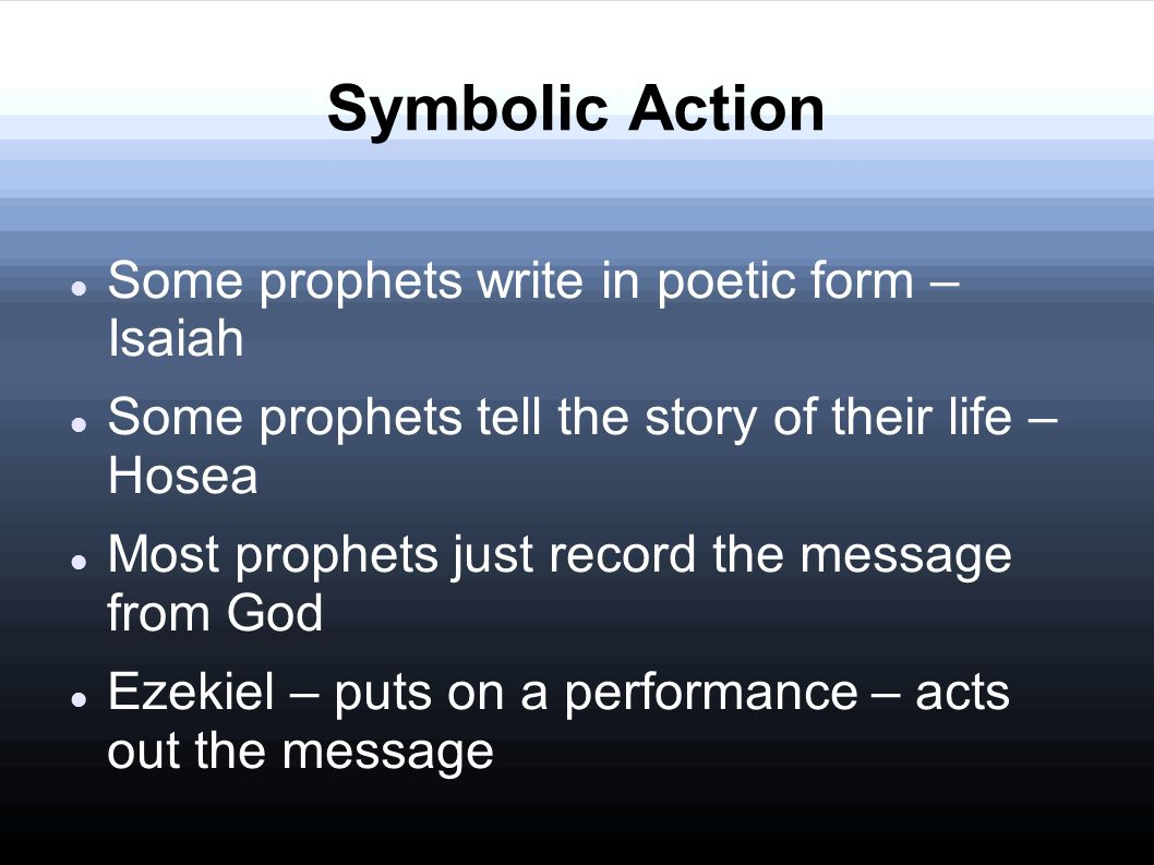 Eat a scroll Ezekiel 3:1-3 1 Moreover He said to me, Son of man, eat what you find; eat this scroll, and go, speak to the house of Israel. 2 So I opened my mouth, and He caused me to eat that scroll.