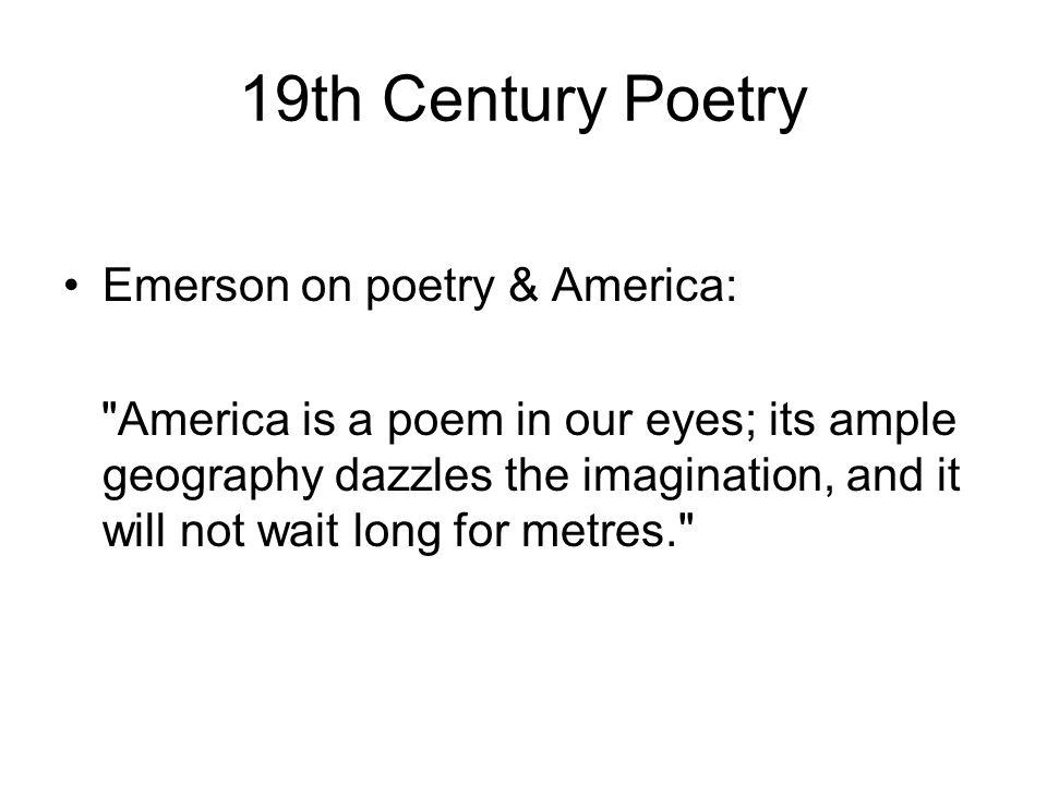 Walt Whitman Leaves of Grass (1855) Develops free verse Emerson's voice is found