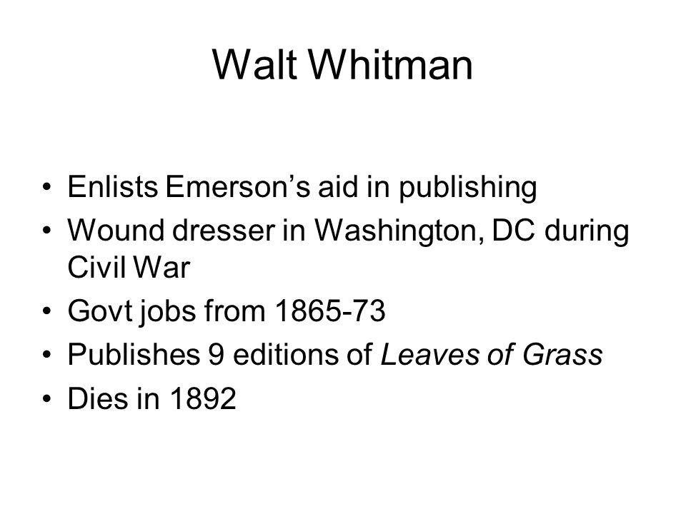 The Good Gray Poet Singing Vitality Self America Democracy Physicality Mystical Transcendental Innovation