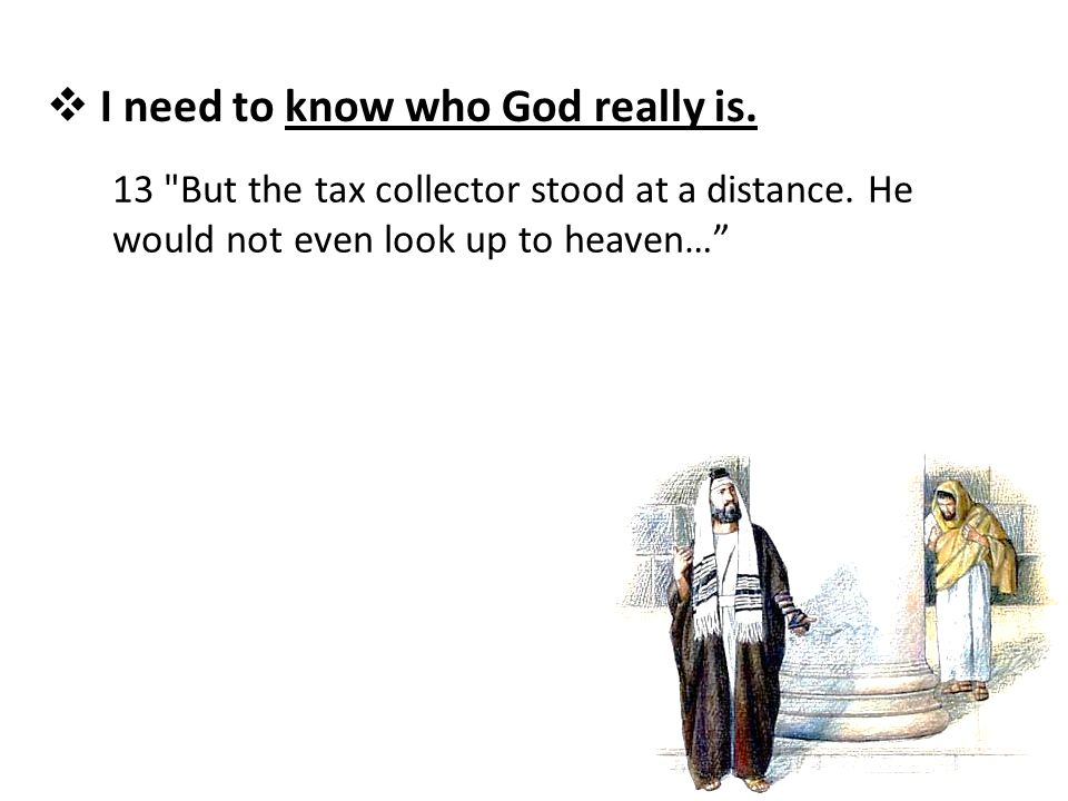  I need to know who God really is. 13