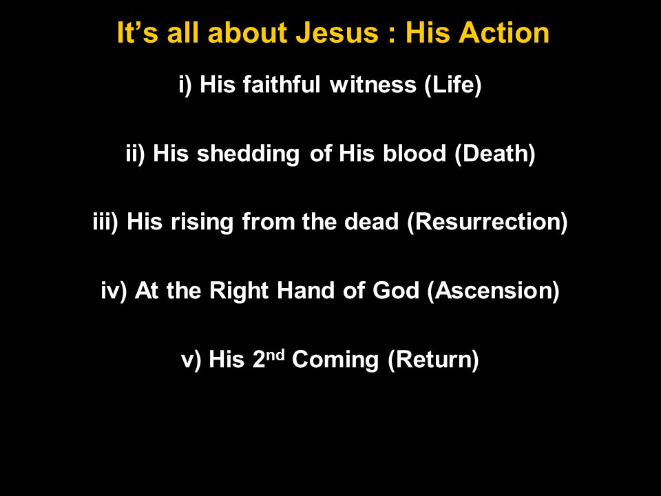 It's all about Jesus : His Titles i) Son of Man